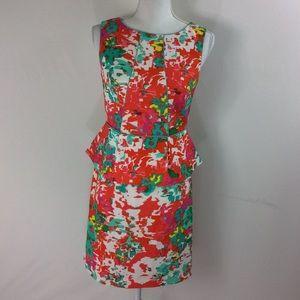 T136 AGB Dress Petite Peplum Dress Size 6P